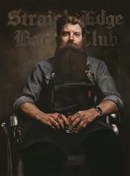 Straight Edge Barber Club by Vincent Kamp - Limited Edition on Canvas sized 15x20 inches. Available from Whitewall Galleries